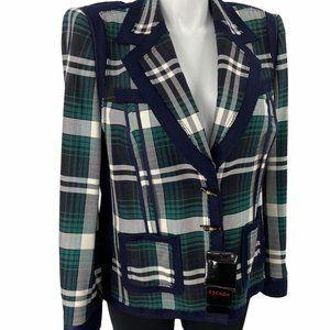 Escada size 16 checkerboard blazer new $1595 tags